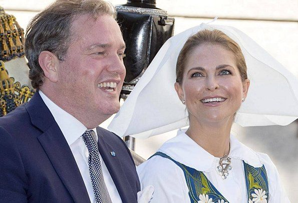 Swedish royal family attend 2017 National Day celebration at Skansen