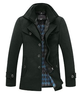 Men's fashion for Winter. Winter coat military style.
