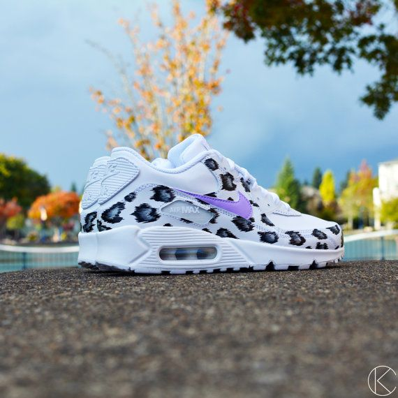 Custom Air Max 90 Snow Leopard Hand Painted Nike by KendrasCustoms