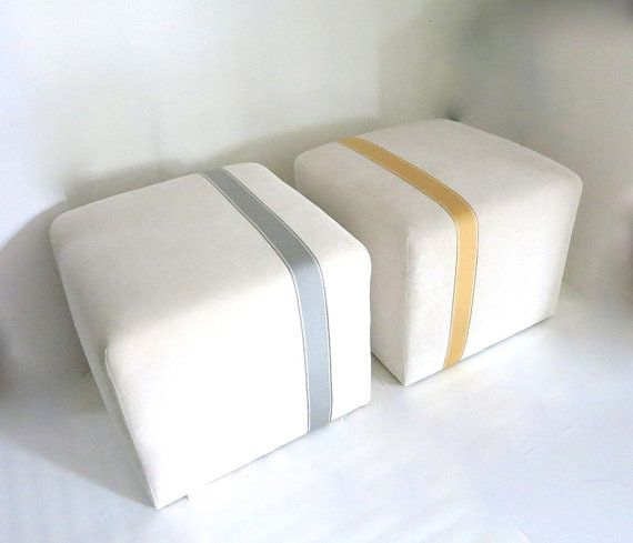 Pouf Ottoman Floor Pouf - Modern Minimalist Ivory Velvet 21  sqr. with Vertical Yellow & 26 best Ottomans images on Pinterest | Ottomans For the home and ... islam-shia.org