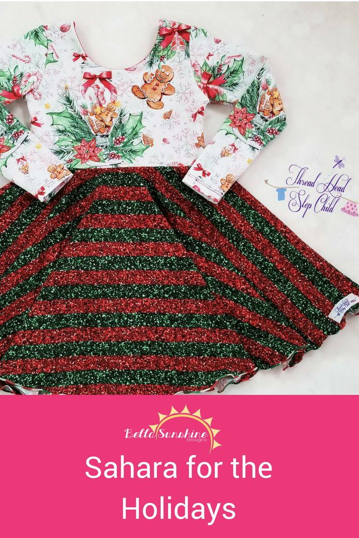 """Holiday Sewing~ Sahara for the Holidays - Bella Sunshine Designs What a GORGEOUS dress! And so perfect across so many holidays! I'll need to look at this for """"pin-spiration""""! Pin for later!"""