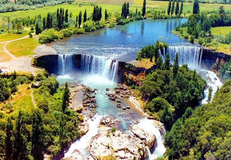 paisajes de chile Salto del Laja cascada paisajes bonitos hermosos rio
