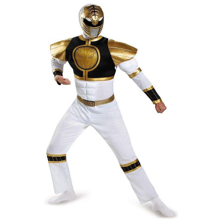 Mighty Morphin Power Rangers White Ranger Costume - Adult, Men's, Size: XL, Multicolor