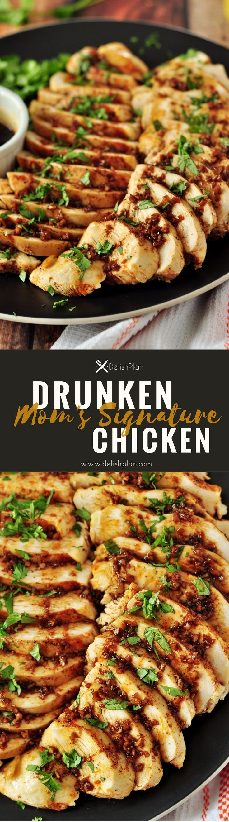 Dip your cooked chicken in this secret drunken sauce made with homemade hot chili oil, this drunken chicken will knock your socks off.