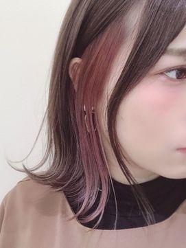 インナーカラー×ピンクオレンジ/ROYAL HAIR 【ロイヤルヘアー…  – ヘアスタイル