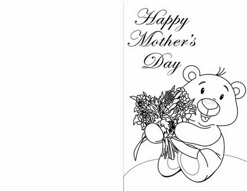 Easy Printable Mothers Day Cards Ideas For Kids Coloring