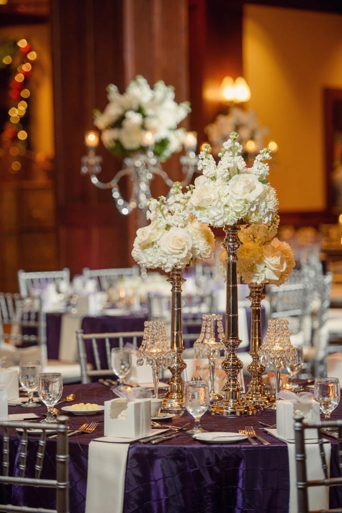 wedding centerpieces white flowers   @Jonathan Ivy Photography- Samantha Foster
