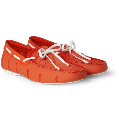 Swims awesome active loafers #mrporter #orange #loafers #menswear #fashion #style #luxury #active #shoes