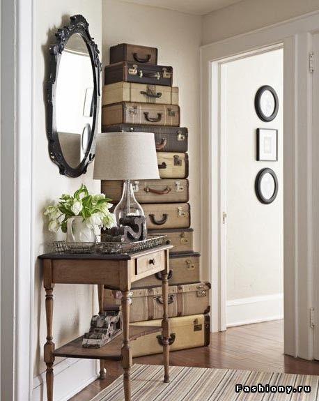чемодан в интерьере фото
