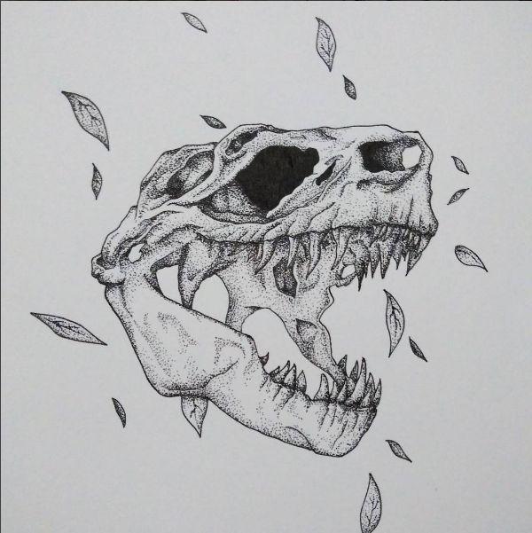 Illustration - T-Rex Skull