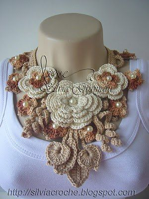 Floral large necklace/neck cover