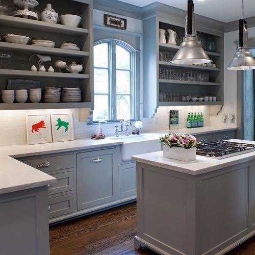 25 beste idee n over blauw grijze keukens op pinterest grijze keukenverf keuken verf schema - Kleur verf moderne keuken ...