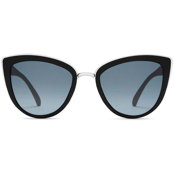 My Girl Sunglasses by Quay Australia ($52) ❤ liked on Polyvore featuring accessories, eyewear, sunglasses, black, metal sunglasses, metal glasses, summer sunglasses and summer glasses