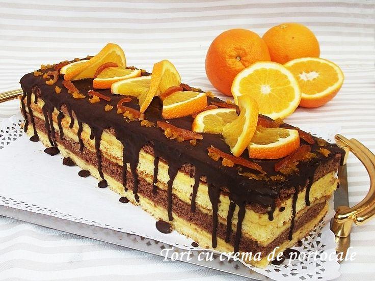 Tort cu crema de portocale http://dianacakes.blogspot.ro/2013/12/tort-cu-crema-de-portocale.html