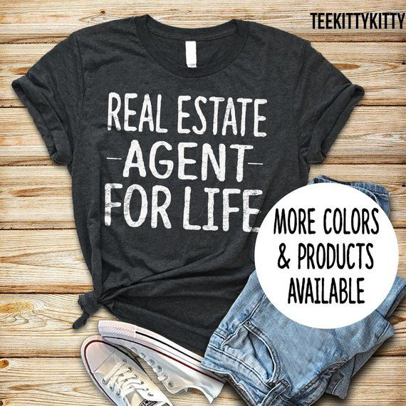 Real Estate Agent For Life Shirt Tank Top Hoodie Gift By TeeKittyKitty