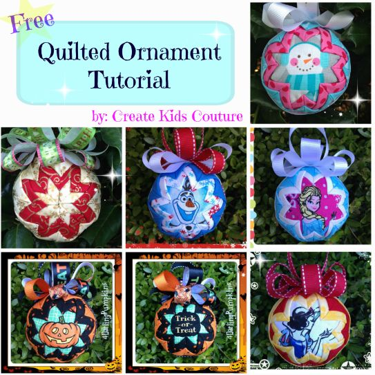 Quilted Ornament Tutorial, Christmas ornaments
