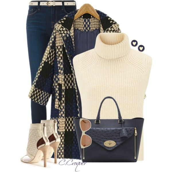 Navy & Cream by ccroquer on Polyvore featuring Étoile Isabel Marant, J Brand, Modern Vintage, Mulberry, Brooks Brothers, House of Harlow 1960 and Dorothy Perkins