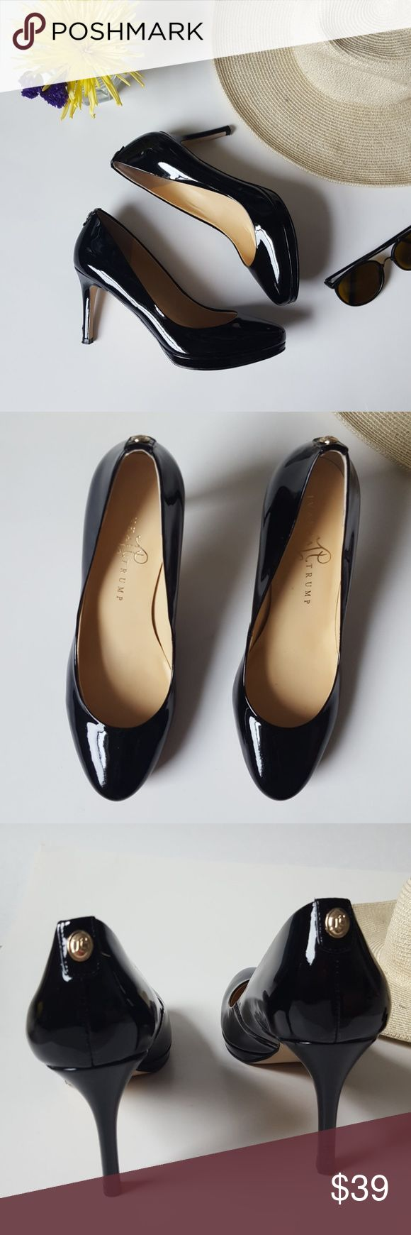 Ivanka Trump   black heels   7 In good condition! Ivanka Trump heels, size 7. Black patent leather. Small imperfection shown on back right heel. Otherwise perfect condition! Used item, some signs of wear shown by pictures ❤ Bundle up! Offers always welcome:) Ivanka Trump Shoes