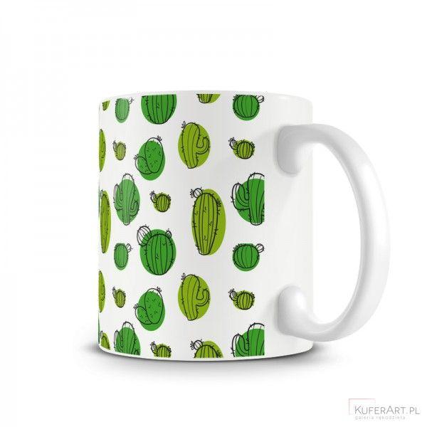 Kubek - kaktusowo - Ceramika - Dekoracje wnętrz