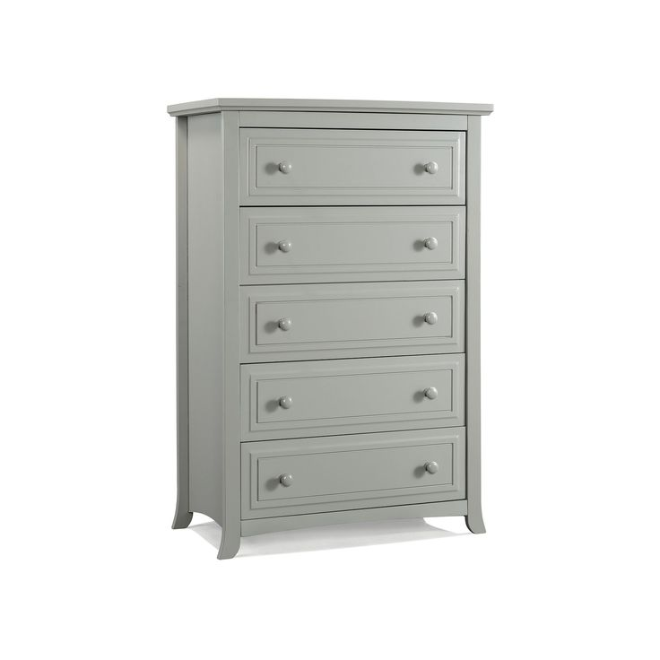 Graco Kendall 5-Drawer Chest Dresser, Grey, Durable