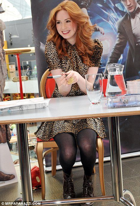 karen gillan. She is beautiful. I admire her and her fashion sense very much