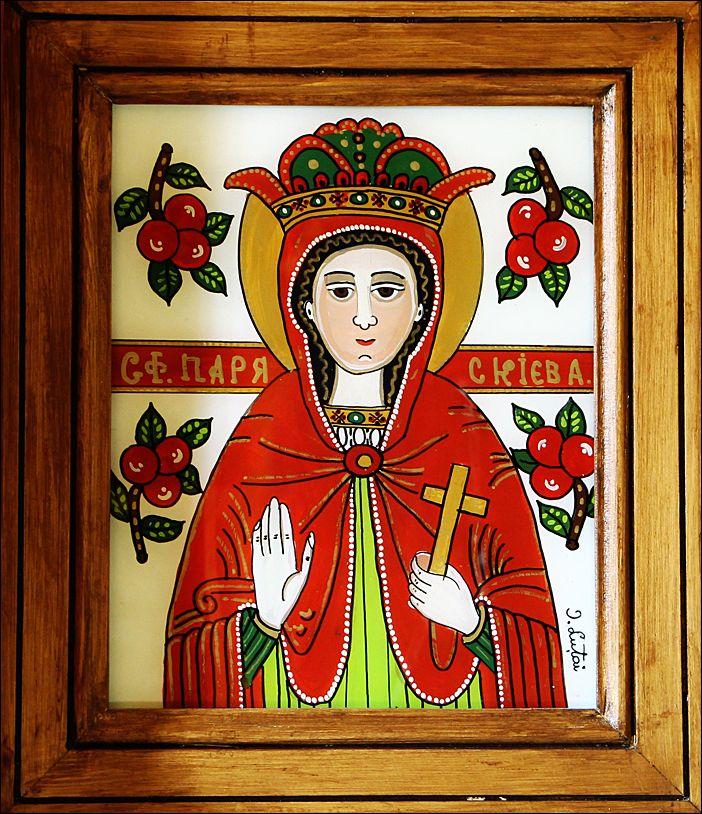 Sfanta Parascheva - Icoane pe sticla Sapanta - Ioana Lutai - foto Cristina Nichitus Roncea http://icoanepesticla-sapanta.ro