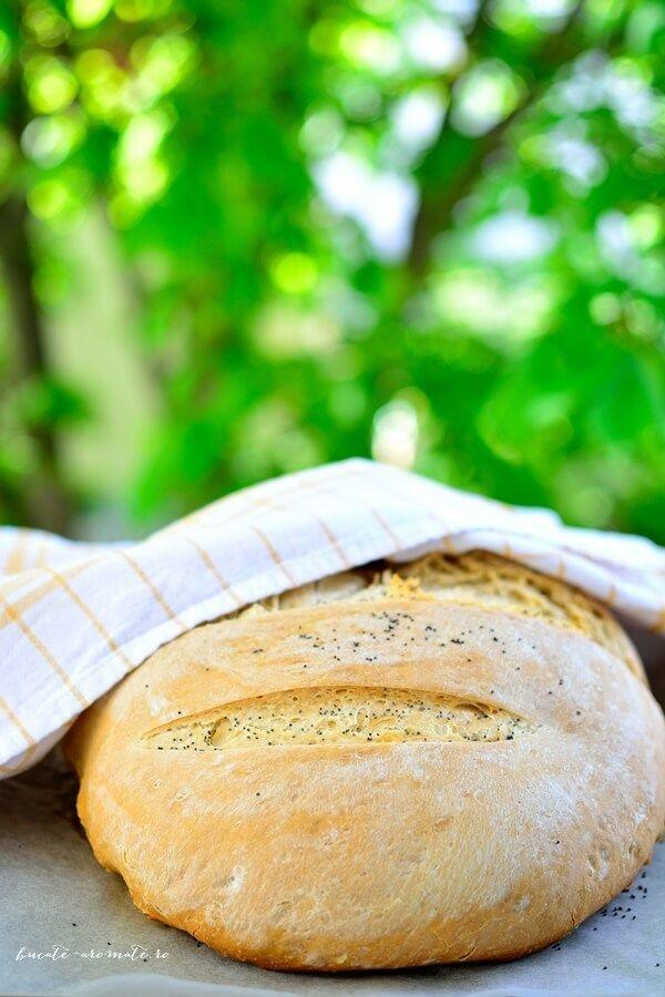 Pâine de casă simplă cu ulei de măsline