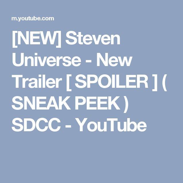[NEW] Steven Universe - New Trailer [ SPOILER ] ( SNEAK PEEK ) SDCC - YouTube