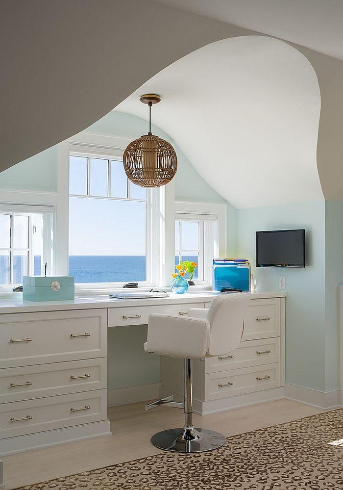 Дизайн интерьера домашнего офиса от George Penniman Architects