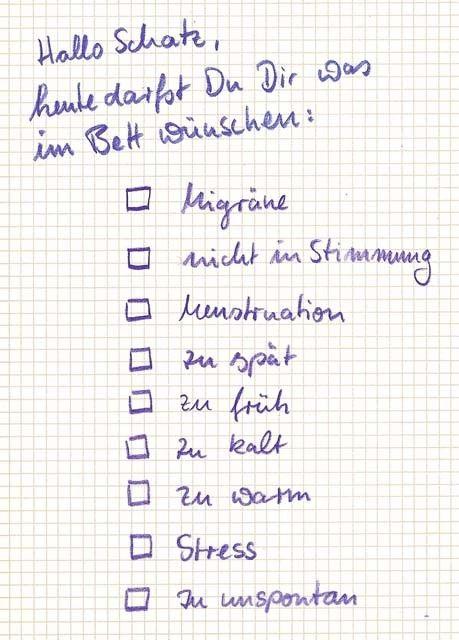 Postkarte   Hallo Schatz, Heute Darfst Du Dir Was Im Bett Wünschen  Postkarten Lustige Sprüche. Valentinstag ...