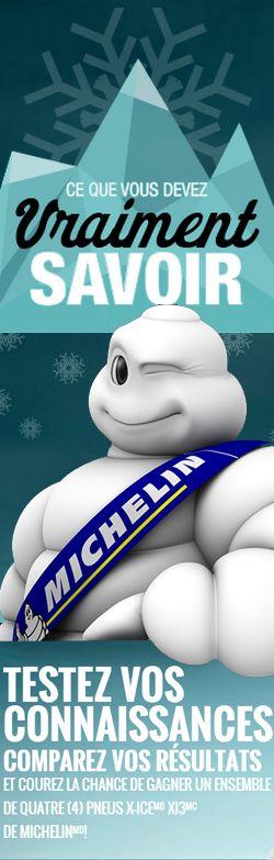 Gagnez un ensemble de pneus d'hiver Michelin