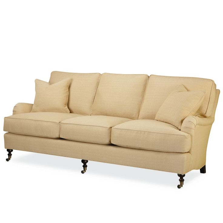 A transitional sofa with an english arm and turned castered legs from Lee Industries. Sofa  sc 1 st  Pinterest : lee industries sectional price - Sectionals, Sofas & Couches