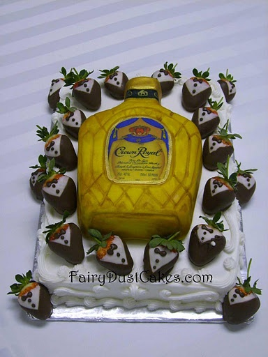 Funny grooms cake! this is my fiance's cake all the way he loves crown royal too funny I love it