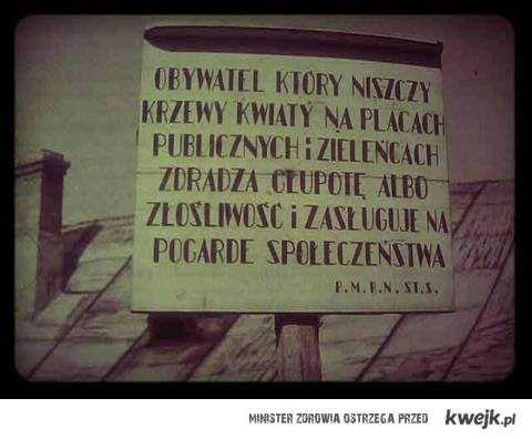 prl polskie znaki chodnikowe