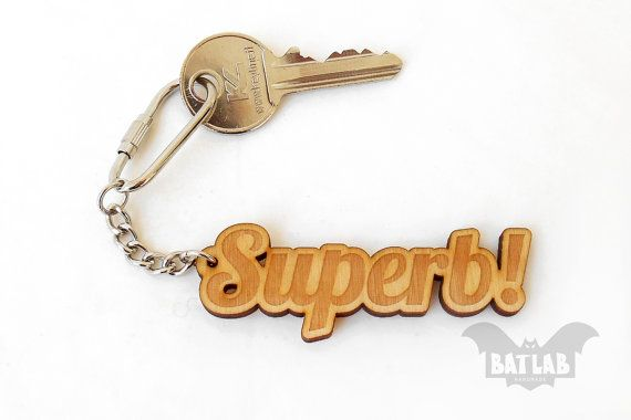Name Keychain from wood  Wooden keychain  Engraved by BatLab