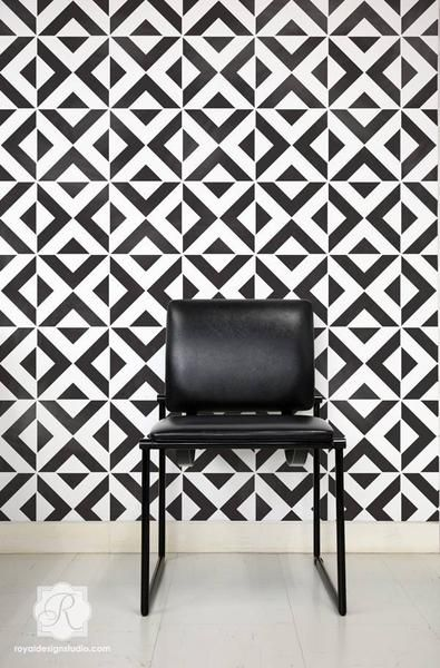 DIY Wall Decor Ideas that are Black and White - Modern and Geometric Patterns…