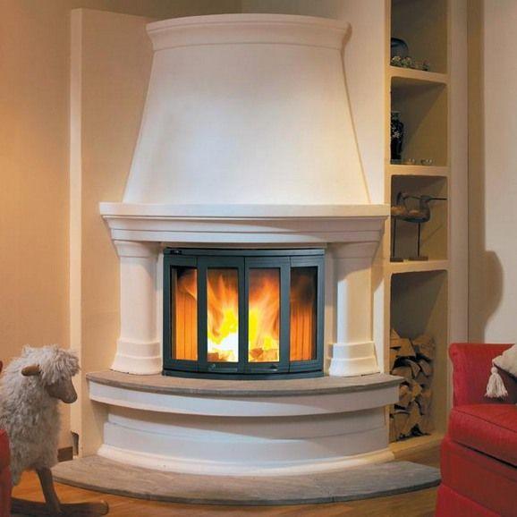 Luxury village design idea for round corner for Outdoor gas fireplace designs