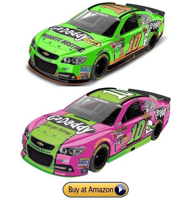 Danica Patrick GoDaddy nascar toy green pink cars