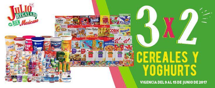Esta es la nueva promoción estelar de Julio Regalado 2017 en Soriana, Comercial Mexicana y Mega:  3×2 en todos los cereales o yogurts. Ofertas no comb...