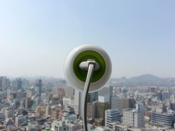 Designed by Kyuho Song & Boa Oh, the Window Socket is a fabulously simple portable outlet that gets its power from a small solar panel on one side.