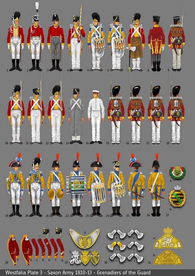 Westfalia - Saxon army 1810-13 - Grenadiers of the guard