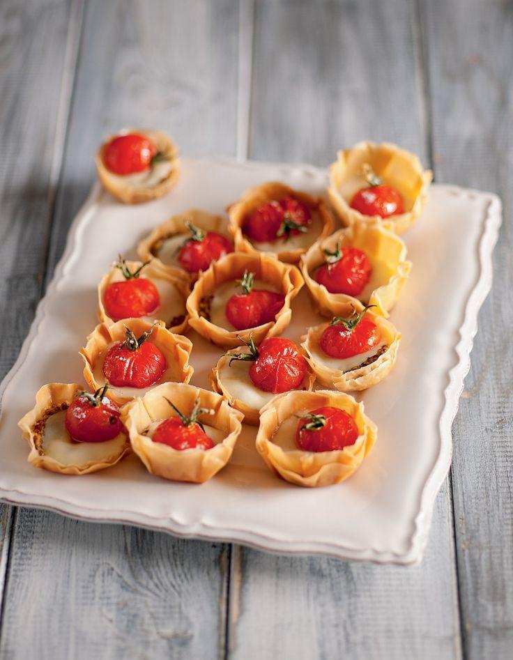 Tartelette con pomodorini canditi...