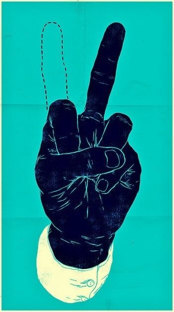 """""""The peace sign is just the trigger and the middle finger…"""" Lil' Wayne"""