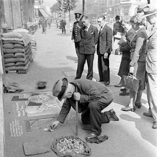 The street art of Wartime London, 1941.