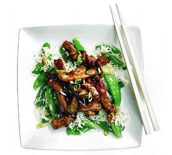 Favorite recipe at the moment: Chinese stir fry with sugarsnaps and garlic (Jumbo Supermarkten)