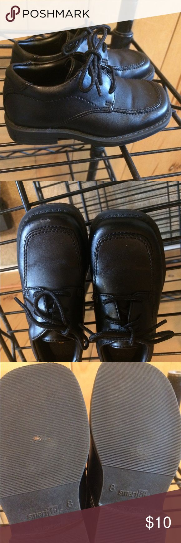 Boys black dress shoe size 8 Smart fit black size 8 boys dress shoe smart fit Shoes Dress Shoes