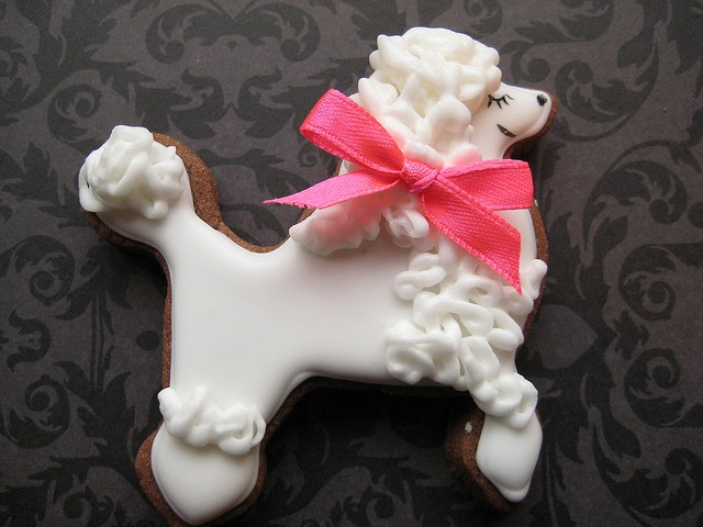 Poodle cookie: Poodlecookie, Ideas, Birthday, Poodle Cookie, Cupcakes, Puppy Dessert, Food, Cookie Designs