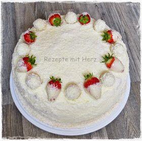 Rezepte mit Herz ♥: Erdbeer-Raffaello-Torte