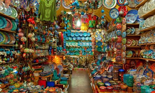 the intense colours from the Grand Bazaar