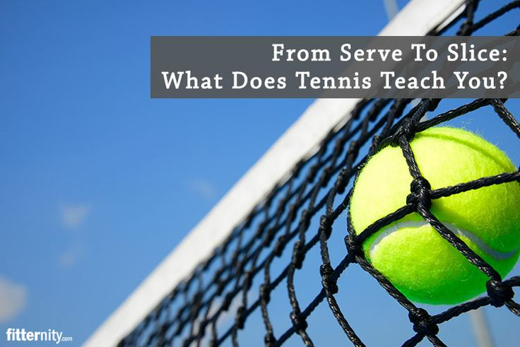 From serve to slice: what does tennis teach you?